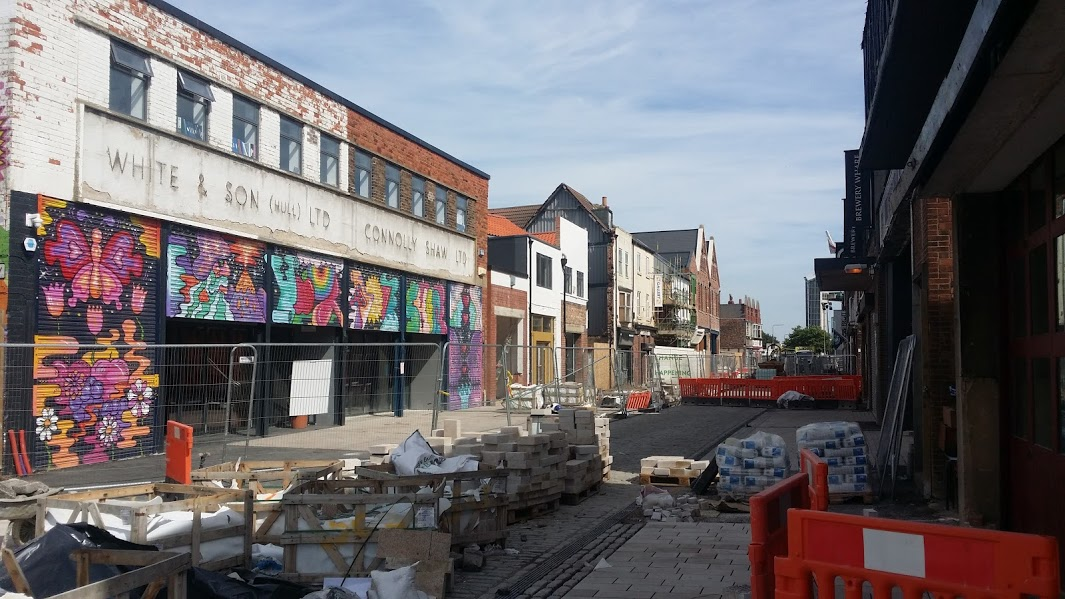 Humber Street under development